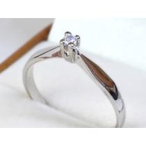 Anillo Compromiso Oro14k Diamante Corte Brillante Certificad