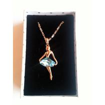Collar Chapado En Oro De 18k Con Cristales Para Dama