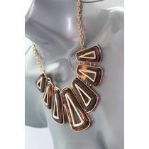 Collar Moda Tipo Gargantilla De Perlas Y Cadena En S