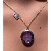 Medallón Vidrio Púrpura Diente De León - Neráidas