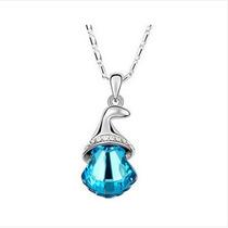 Bonita Corrente Com Estiloso Sino De Cristal (azul)