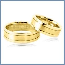 Argollas De Matrimonio Mod. Aura En Oro Amarillo 14k Solido