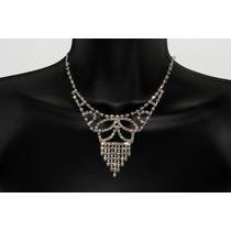 Conjunto Elegante, Collar, Aretes, Pulsera Y Anillo Ce95