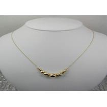 Collar Cadena Con Bolita De Oro Laminado