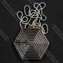 Collares Kpop Exo Cadena Metal Dije Color Plata Moda Coreana