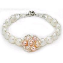 Pulseras De Perlas Naturales+regalo!!!