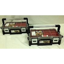 Keter Conjunto De 2 Negro Con Joyería De Hardware De Red Bin