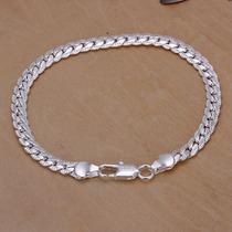 Pulcera Italiana Unisex 5mm Plata 925 Diamantada