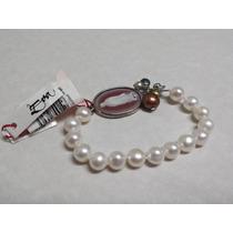 Pulsera De Perlas Cultivadas Con Plata Y Partes Chapeadas