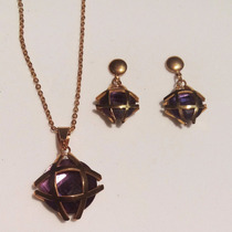 Genial Regalo Mamá Novia Esposa Collar + Aretes Cristal Aust