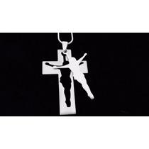 Cruz Cristo Jesús Precioso Dije Acero Inoxidable 0371