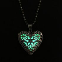 Collar Vintage De Lujo Moda Mujer Corazón Brilla Oscuridad