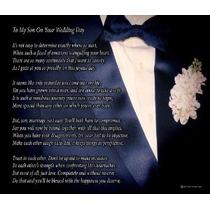 Para Mi Hijo En Su Día De La Boda - Monoparental - Poema De