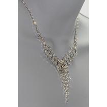 Conjunto Elegante, Collar, Aretes, Pulsera Y Anillo Ce116
