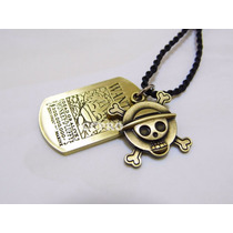 Collar Doble Pendiente Anime One Piece Luffy Wanted Se Busca
