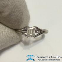 Anillo Solitario Diamante Corte Esmeralda .60 Ct Extravagant
