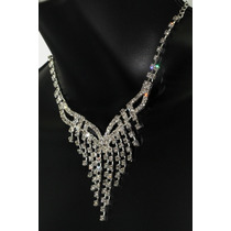 Conjunto Elegante, Collar, Aretes, Pulsera Y Anillo Ce111