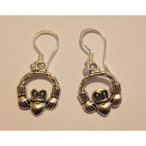 Aretes Y Dije Claddagh Celta Amor Verdadero Wicca