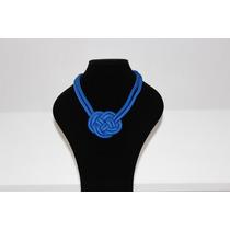 Collar De Nudo Chico Azul Rey
