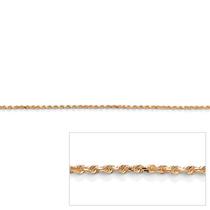 14k Amarillo Oro 1.5mm Diamante-cut Cuerda Cadena 24