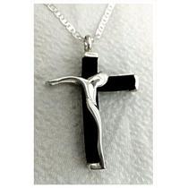Dije De Cristo Con Caucho En Plata 925 ¡ Elegante Diseño ¡