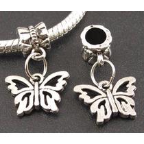 Mariposa 2 Preciosos Dijes De Plata Tibetana 0269
