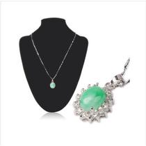 Elegante Collar De Jade Colgante De Joyas Con Diamantes De I