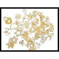 Dijes Troquelados En Chapa De Oro 14k A Granel X 10 Gramos