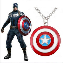 Padrisimo Collar Capitan America The Avengers Mujer Hombre