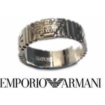 Anillo Emporio Armani Plata 925 Argolla Laberinto Giorgio