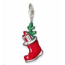 Dije Bota Navidad- Santa Clos--plata .925-flete Gratis