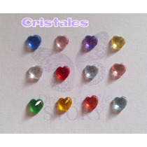 Cristal En Forma De Corazon Dif Color P/ Locket O Relicario