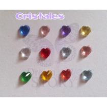 Cristal En Forma De Corazon Dif Color P/ Locket O Relicario