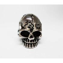 Anillo Cracked Skull En Acero Inoxidable Tallas 8, 9 Y