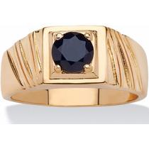 Anillo Caballero Oro 14k Diamante Negro 80pts. Envío Gratis