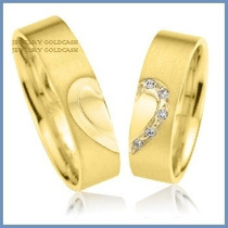 Argollas De Matrimonio Mod. Hope En Oro Amarillo 18k Solido