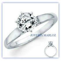 Anillos Comprmiso 10kt Con Diamante Ruso Zwarovski