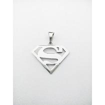 Dije Superman De Plata Ley.925 Relicario De Plata