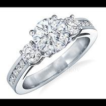 Anillo De Compromiso Con Diamante Natural .80ct En Oro 10k