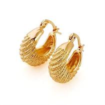 Aretes Oro Laminado 10k 21x18 Milímeros 6.0 Gramos