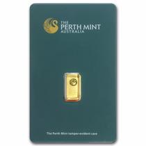 Perth Mint Barrita 1 Gramo Oro Puro .9999 En Certicard