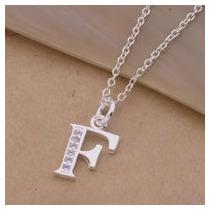 Cadena-dije Letras Todas Las Del Alfabeto-plata.925-cristale