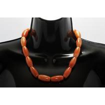 Collar De Piedra Corto Jaspe Naranja Ccpn120