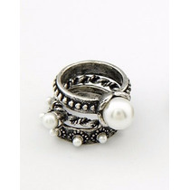 Set Anillos Perlas Antiguas