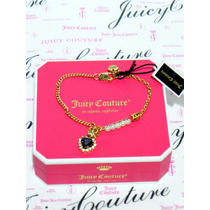 Mca.juicy Couture Pulsera Corazon Violeta Forma Corona .