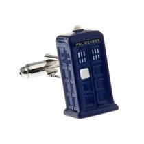 Mancuernillas Doctor Who Cabina De Policia Camisa Traje