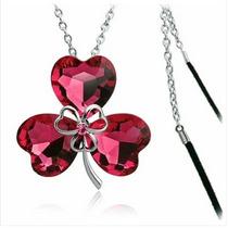 Flor En Forma De Collar De Cristal De Estilo (rojo)