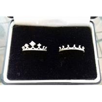 Argollas Matrimoniales Corona Rey Reyna Plata Diamante .925