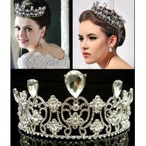 Tiara Corona Imperial Boda Novia Reina Austriaco Swarovski
