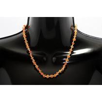 Collar De Piedra Corto Cuarzo Naranja Ccpn112